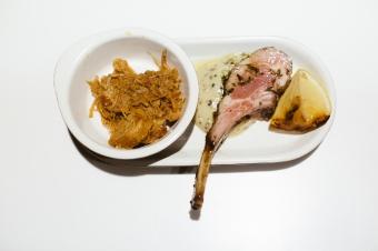 Lammleg med pulled pork